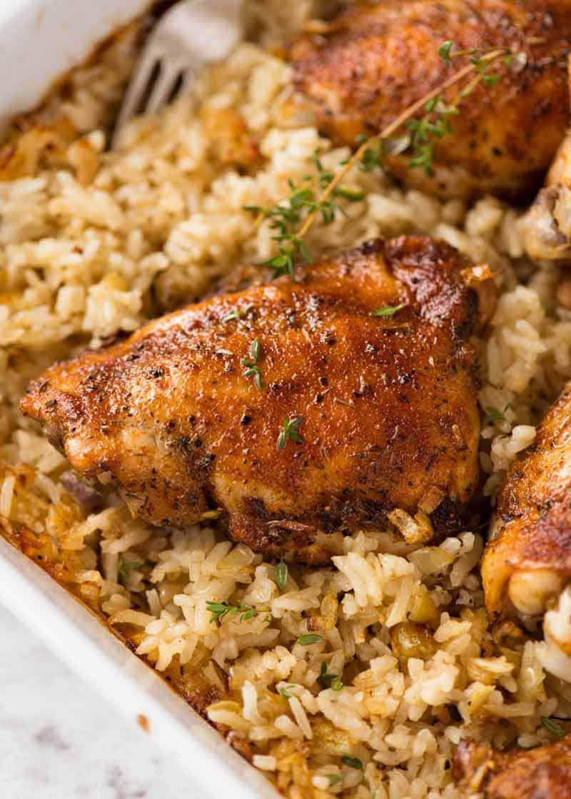 Oven Baked Chicken Recipes  Oven Baked Chicken and Rice