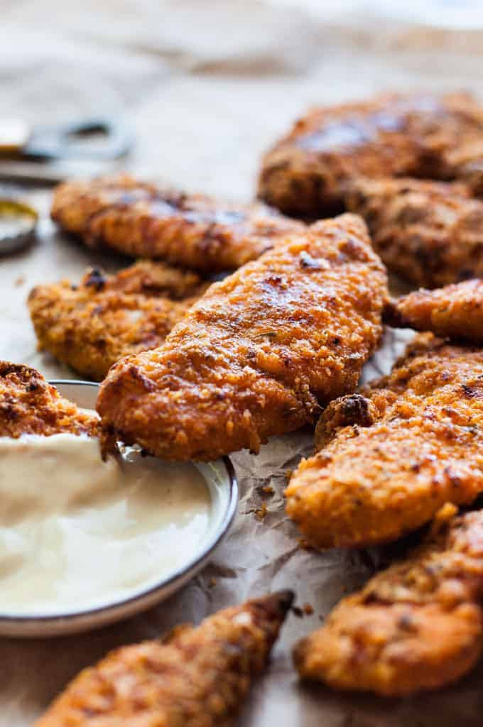 Oven Baked Chicken Tenders  KFC Copycat Oven Baked Chicken Tenders tastes just like