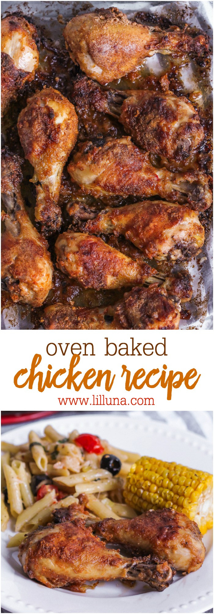 Oven Baked Chicken  Oven Baked Drumsticks Recipe