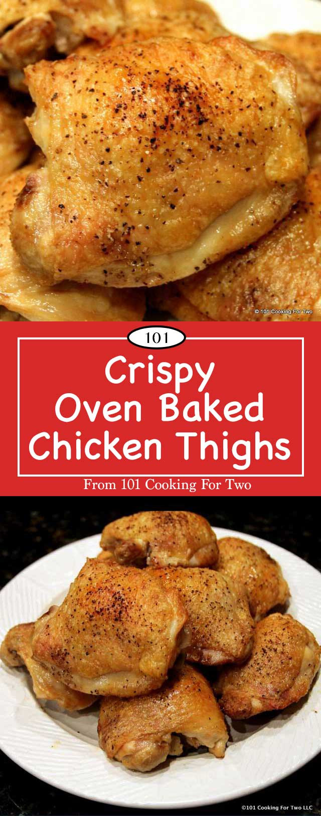 Oven Baked Chicken Thighs  Crispy Oven Baked Chicken Thighs
