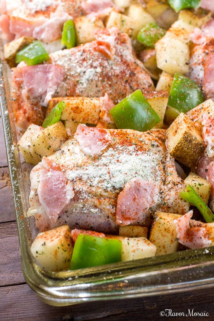Oven Baked Chicken Thighs  Oven Baked Chicken Thighs with Bacon and Ranch Flavor Mosaic