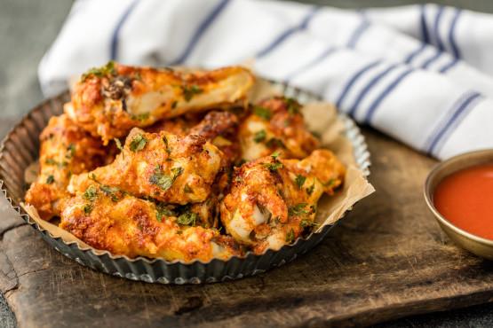Oven Baked Chicken Wings Recipe  Oven Crisp Chicken Wings Recipe Genius Kitchen