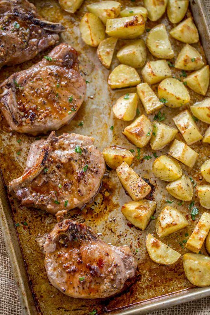 Oven Baked Pork Chops  Brown Sugar Garlic Oven Baked Pork Chops Dinner then