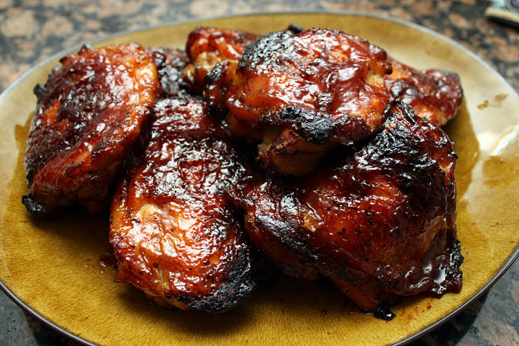 Oven Bbq Chicken Thighs  Oven Barbecue Chicken Thighs