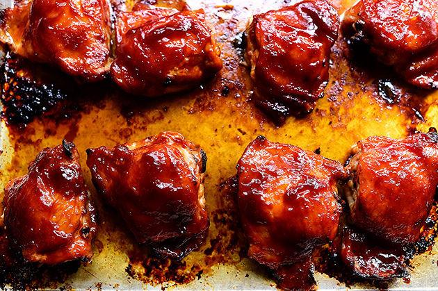 Oven Bbq Chicken Thighs  Oven BBQ Chicken