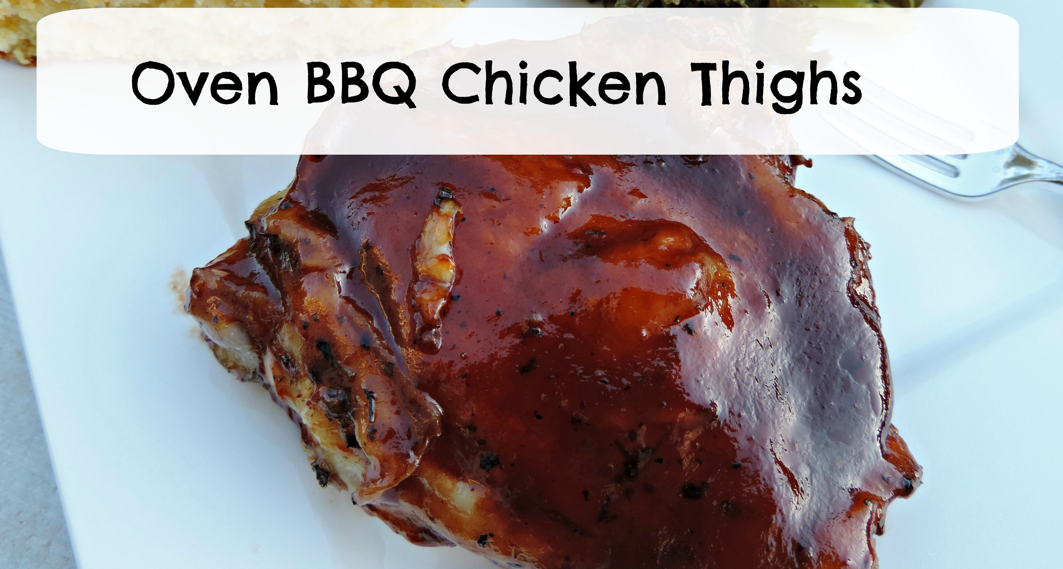 Oven Bbq Chicken Thighs  oven baked BBQ chicken thighs