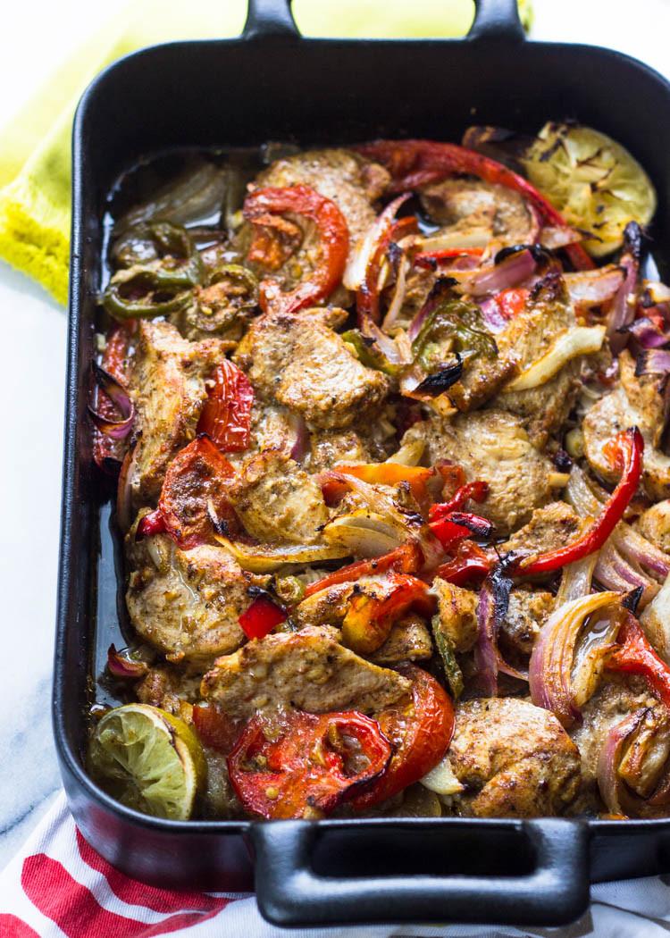 Oven Chicken Fajitas  Easy Oven Baked Skinny Chicken Fajitas