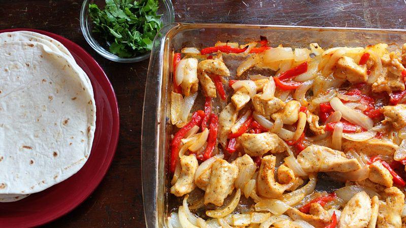 Oven Chicken Fajitas  Easy Oven Baked Chicken Fajitas Recipe BettyCrocker