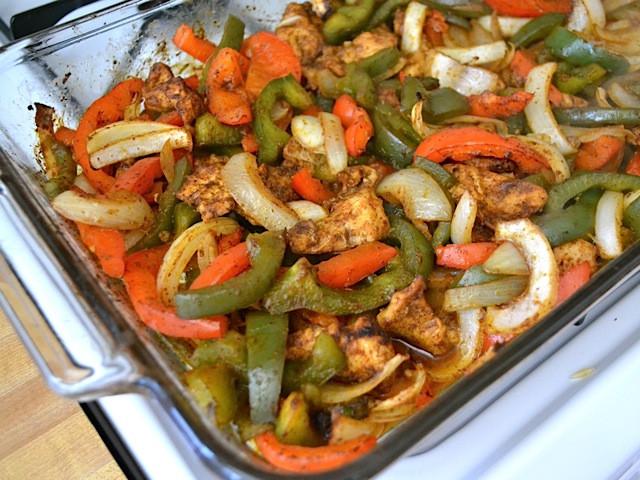 Oven Chicken Fajitas  Easy Oven Fajitas Bud Bytes
