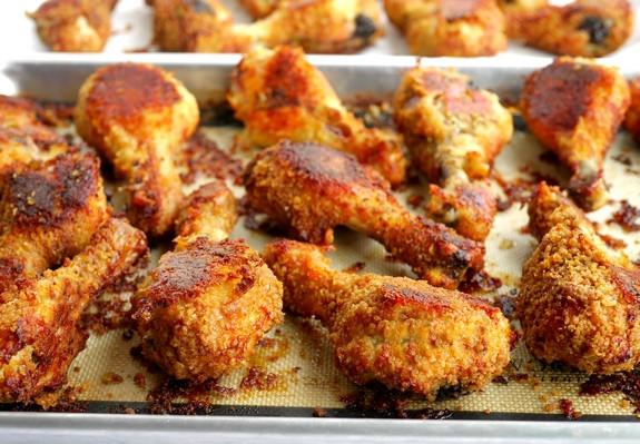 "Oven Fried Chicken Drumsticks  Potato Chip Bisquick Oven ""Fried"" Drumsticks"