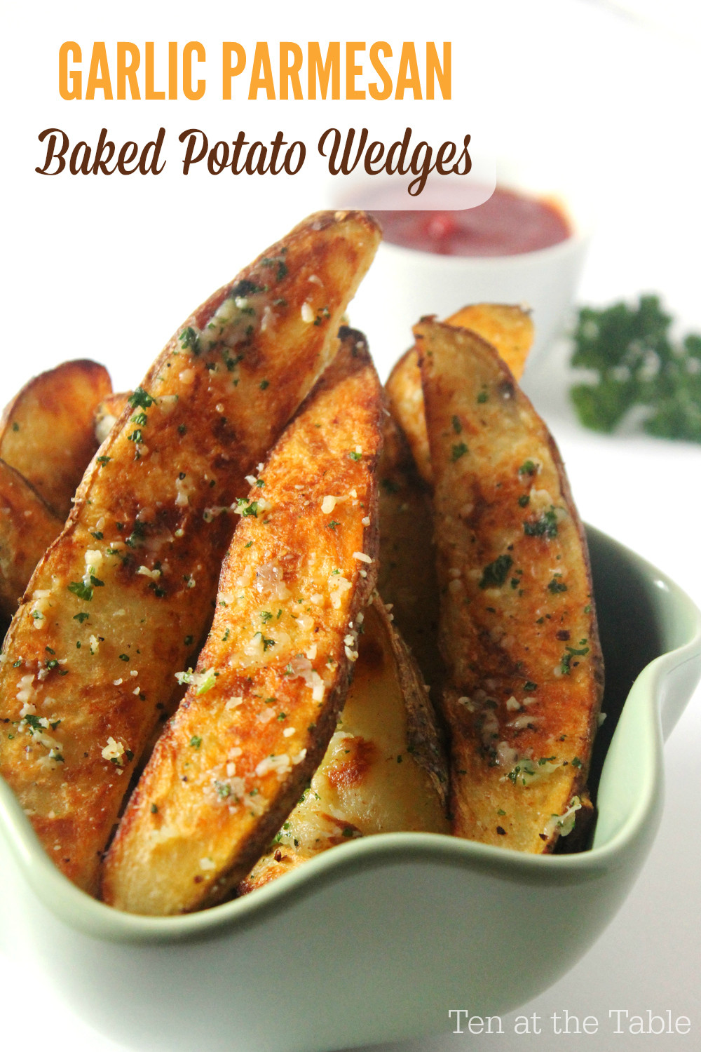 Oven Potato Wedges  Garlic Parmesan Baked Potato Wedges