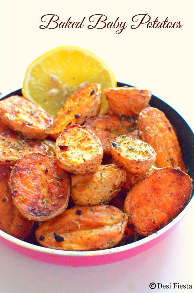 Oven Roasted Baby Potatoes  Baked Baby Potatoes Recipe