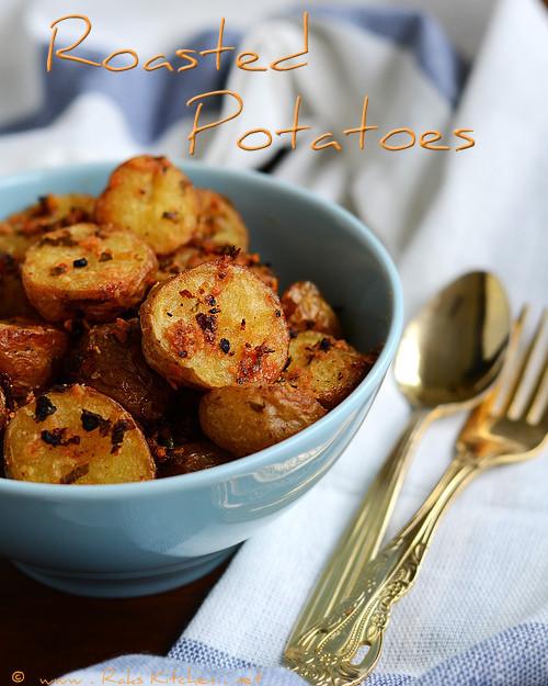 Oven Roasted Baby Potatoes  Oven roasted potato recipe Raks Kitchen