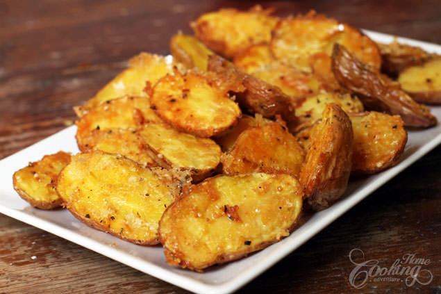 Oven Roasted Baby Potatoes  Parmesan Roasted Baby Potatoes Home Cooking Adventure