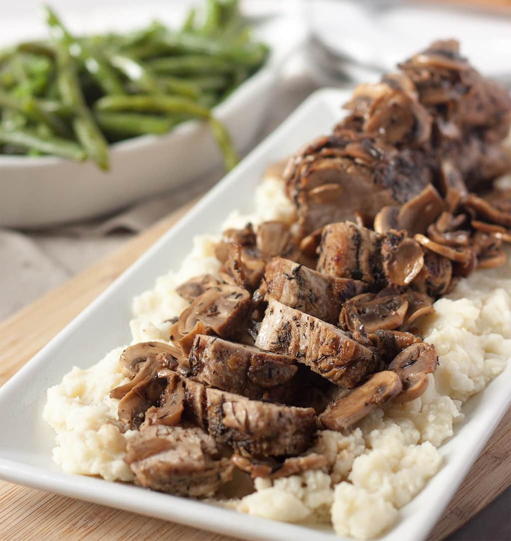 Oven Roasted Pork Tenderloin  Oven Roasted Pork Tenderloin with Mushrooms Basil And Bubbly