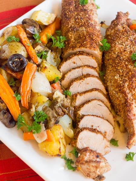 Oven Roasted Pork Tenderloin  Roasted Pork Tenderloin with Oven Roast Ve ables