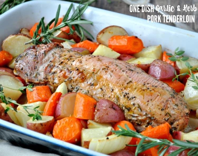 Oven Roasted Pork Tenderloin  e Dish Garlic & Herb Pork Tenderloin The Seasoned Mom