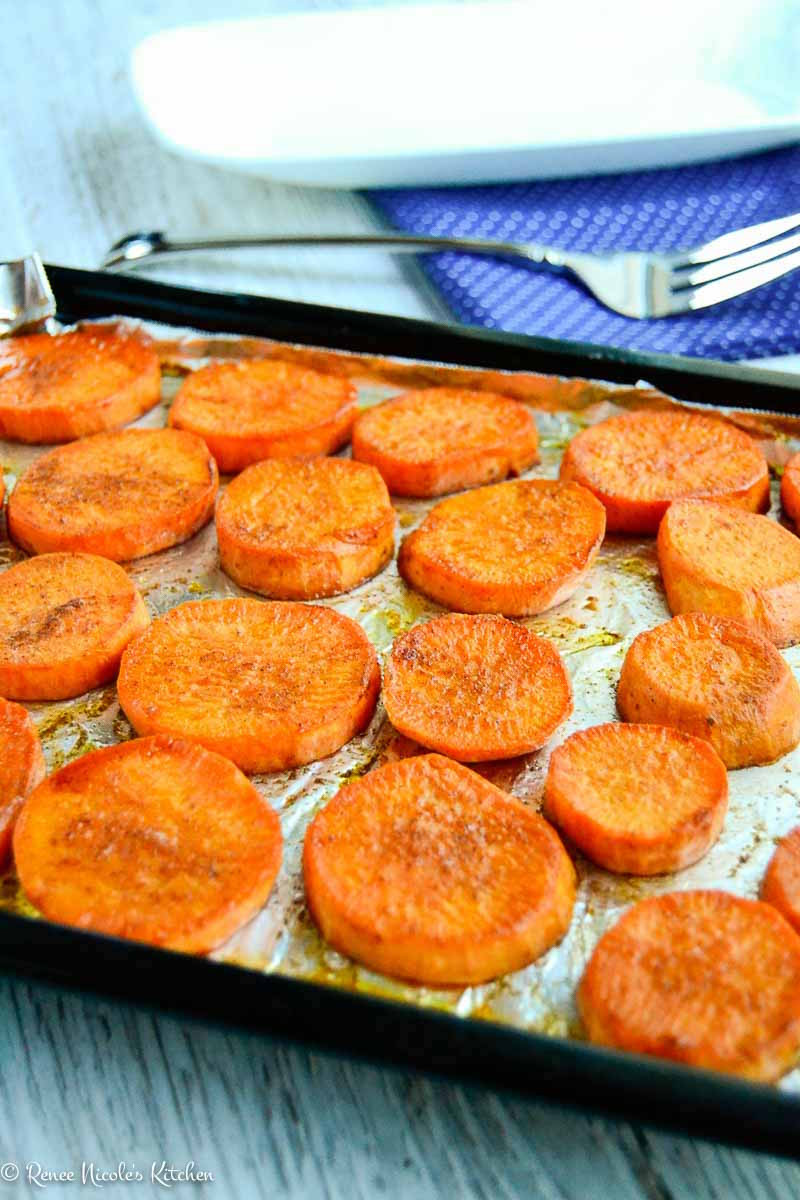 Oven Roasted Sweet Potatoes  Roasted Sweet Potato Slices