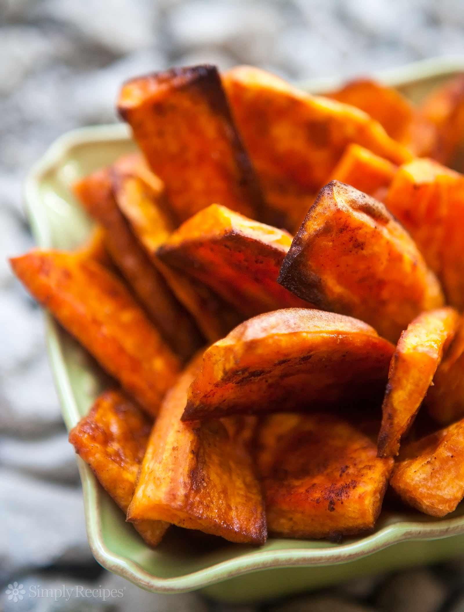Oven Roasted Sweet Potatoes  Oven Baked Sweet Potato Fries Recipe