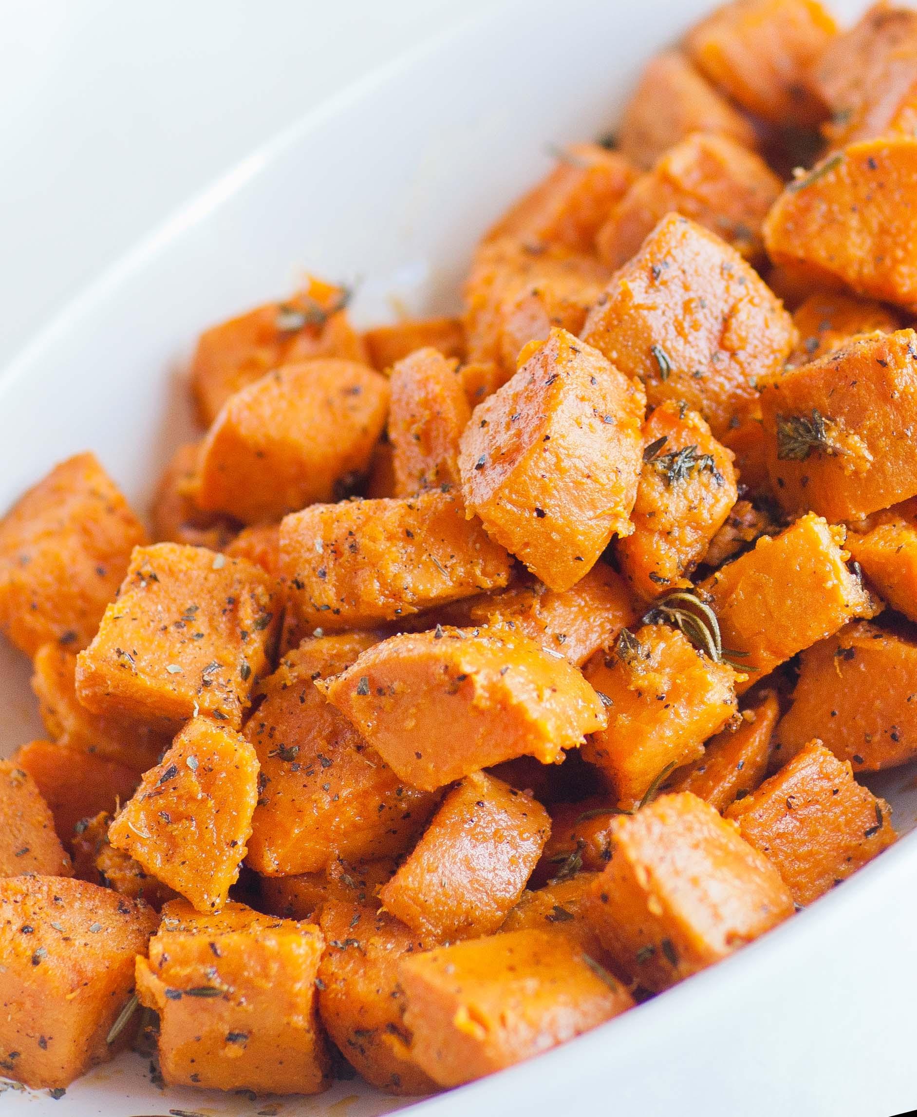 Oven Roasted Sweet Potatoes  Oven Roasted Sweet Potatoes Tatyanas Everyday Food