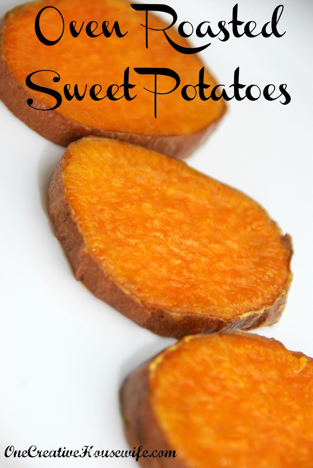 Oven Roasted Sweet Potatoes  e Creative Housewife Oven Roasted Sweet Potatoes
