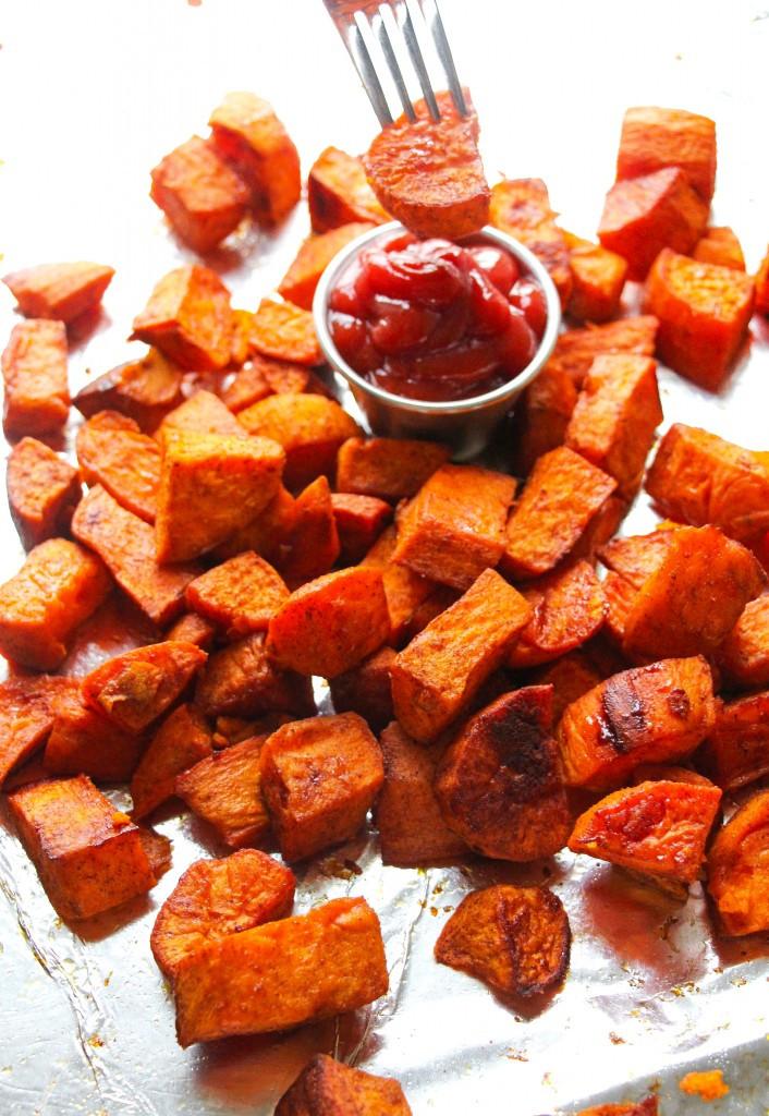 Oven Roasted Sweet Potatoes  Perfectly Seasoned Oven Roasted Sweet Potatoes Layers of