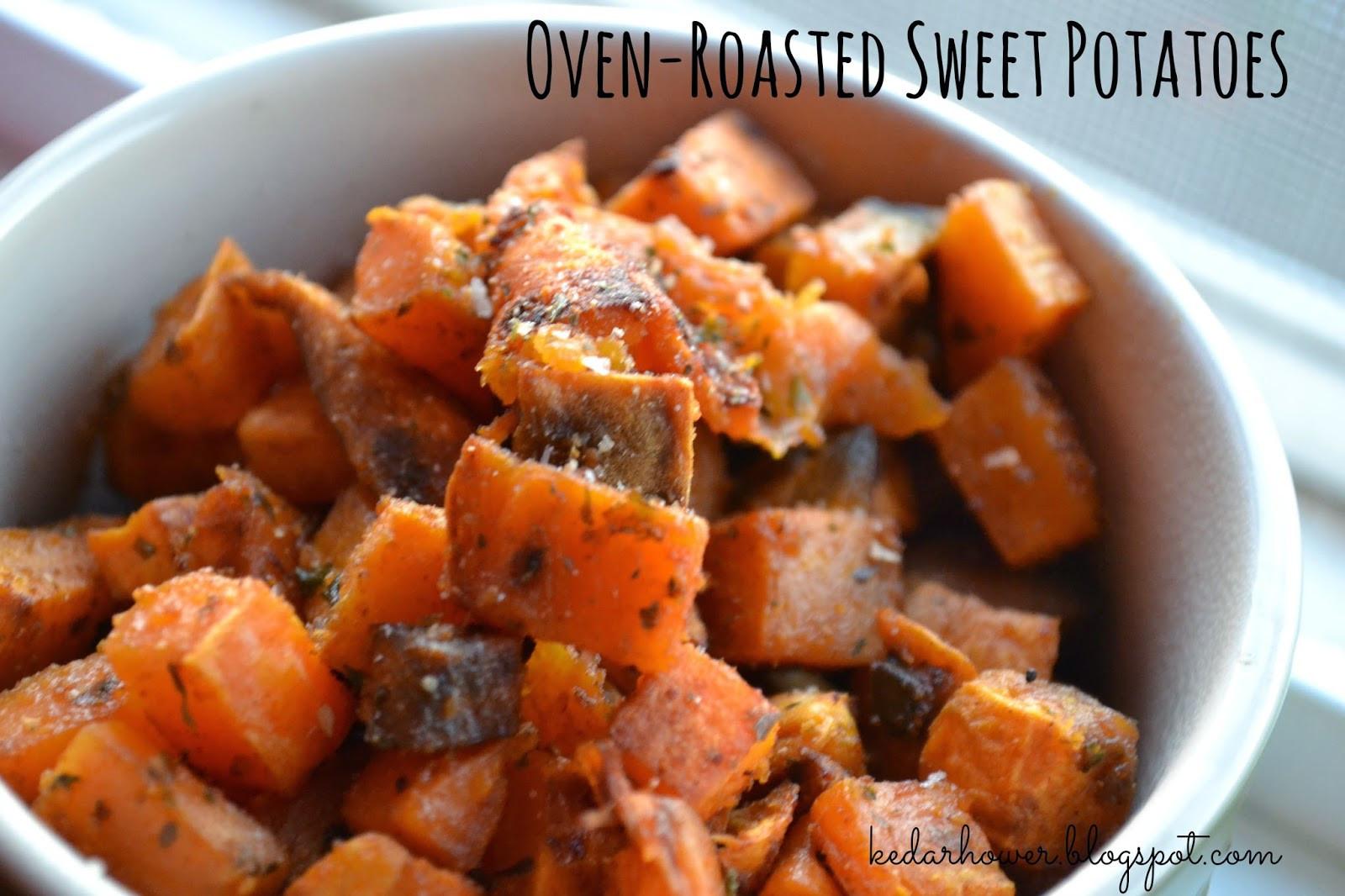Oven Roasted Sweet Potatoes  Stuff Things etc Oven Roasted Sweet Potatoes