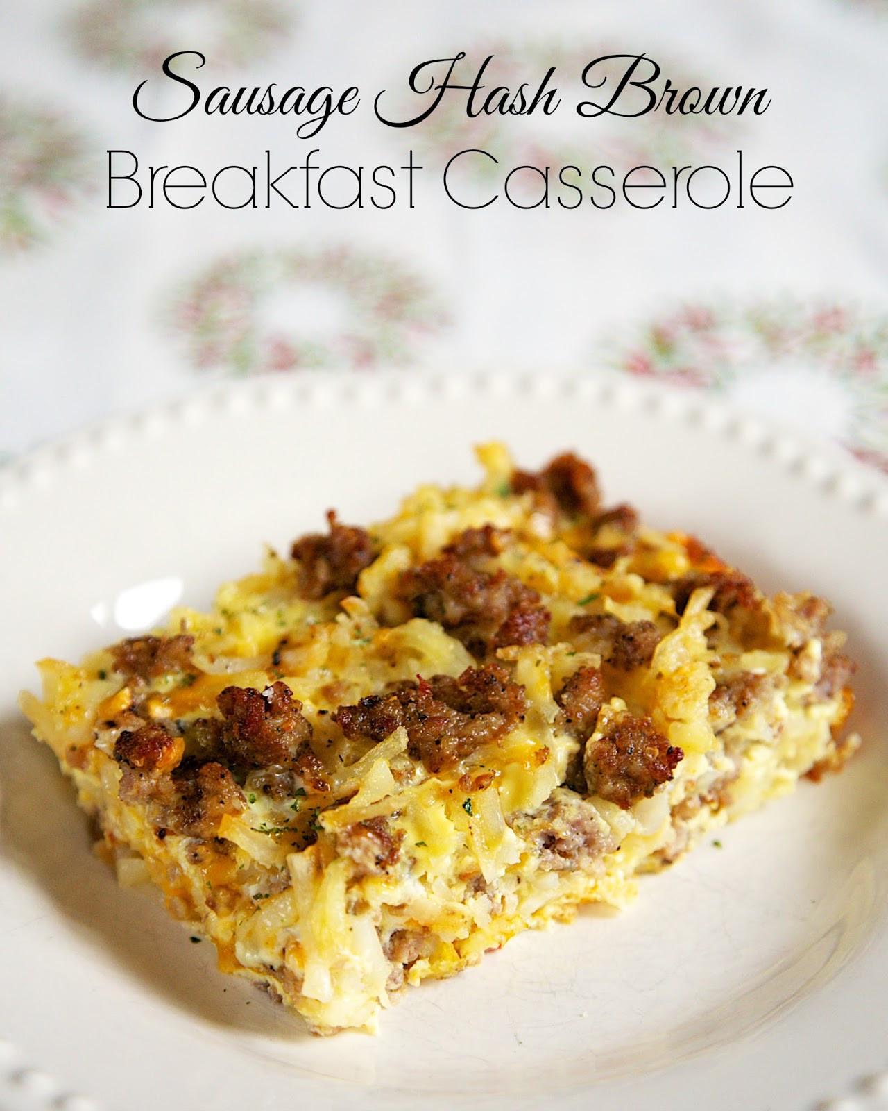 Overnight Breakfast Casserole With Hash Browns And Sausage And Eggs  Sausage Hash Brown Breakfast Casserole