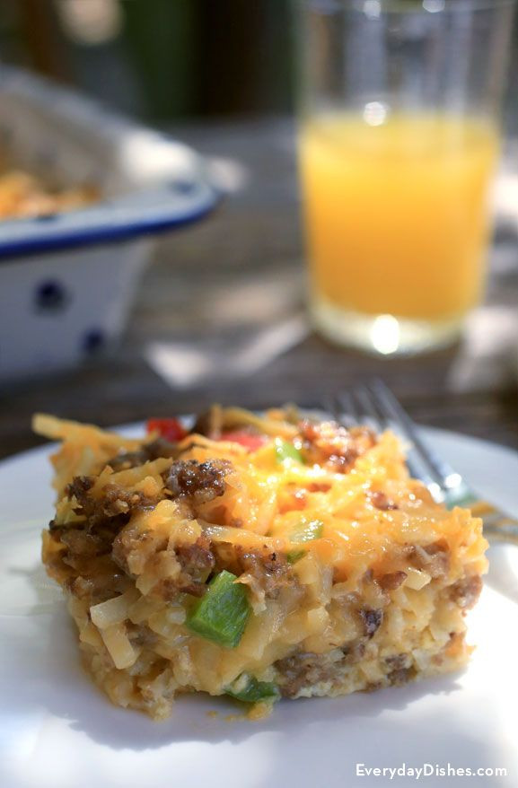 Overnight Breakfast Casserole With Hash Browns And Sausage And Eggs  25 best ideas about Overnight Breakfast Casserole on