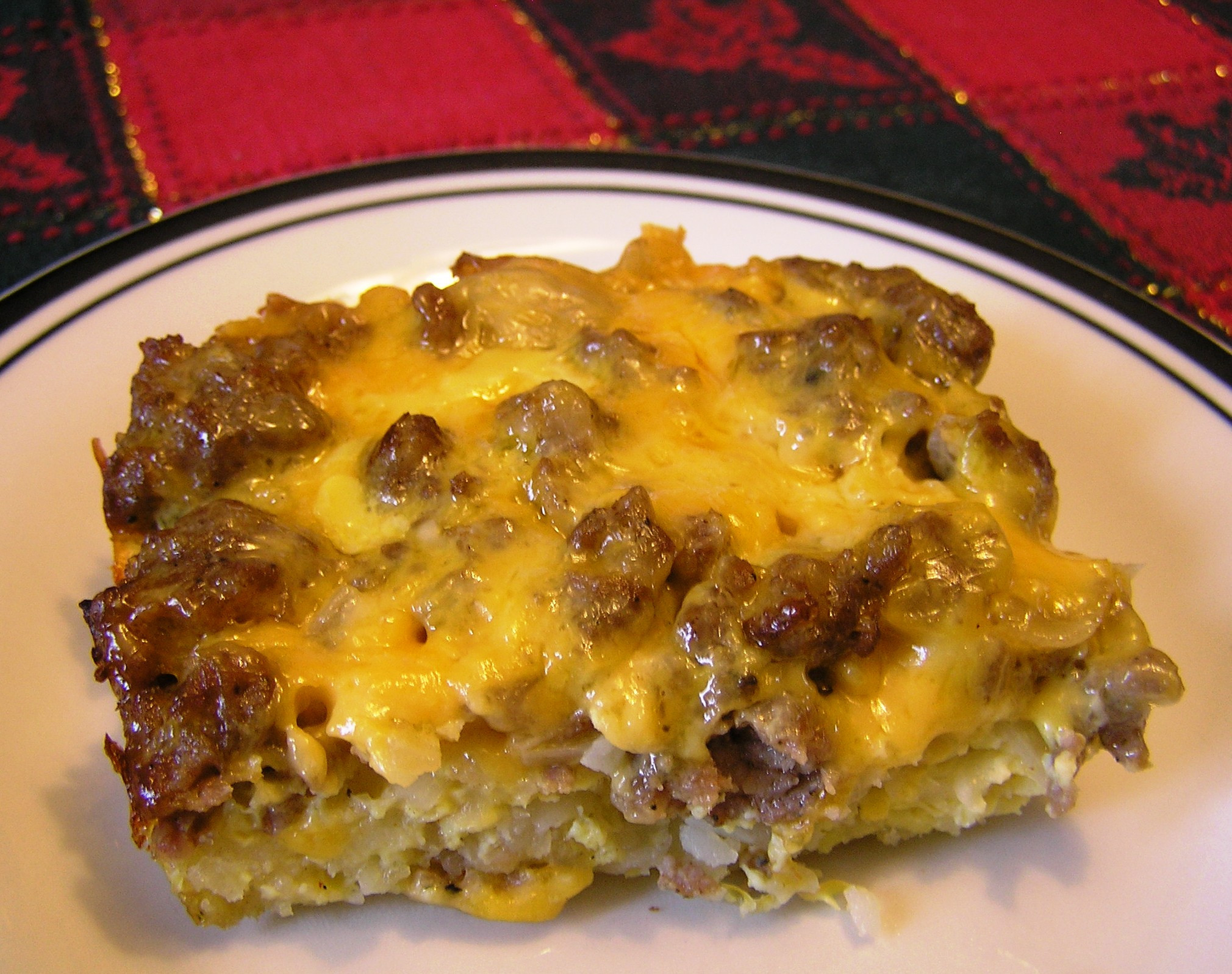 Overnight Breakfast Casserole With Hash Browns And Sausage And Eggs  overnight egg bake with hash browns and sausage
