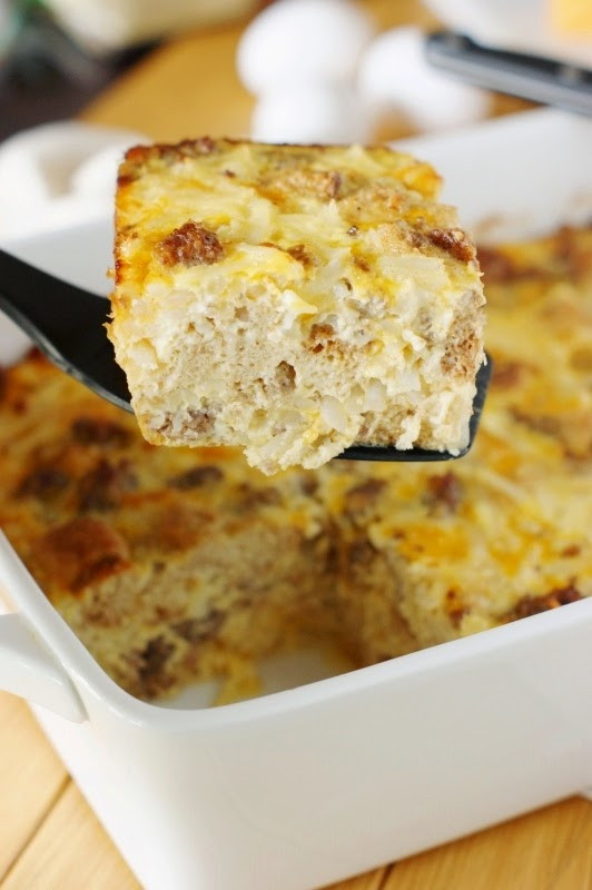 Overnight Breakfast Casserole With Hash Browns And Sausage And Eggs  Overnight Sausage Egg & Hash Brown Breakfast Casserole
