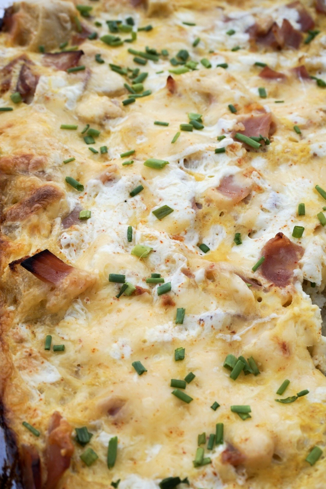 Overnight Breakfast Strata Recipe Overnight Ham and Cheese Strata Recipe Sweet and Strong