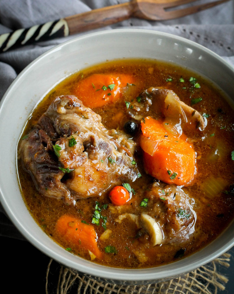 Oxtail Stew Slow Cooker  SLOW COOKER OXTAILS Jehan Can Cook