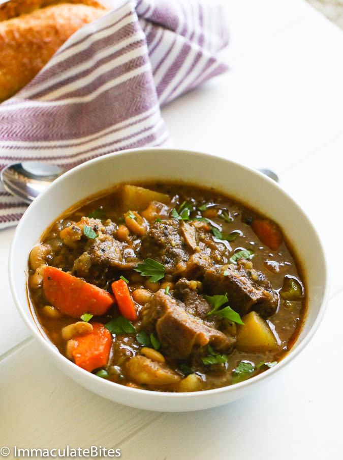 Oxtail Stew Slow Cooker  Slow Cooker Oxtail Soup Immaculate Bites