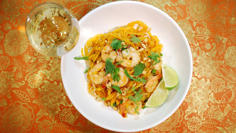 "Pad Thai Hudson  8 & $20 Recipe Butternut Squash Noodle Shrimp ""Pad Thai"