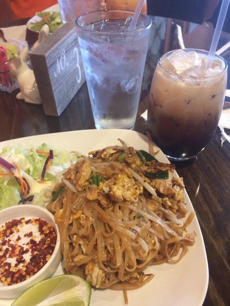 Pad Thai Quincy  Pad Thai House Salad Thai Iced Coffee Yelp