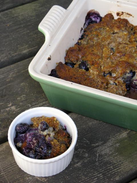 Paleo Blueberry Cobbler  Grain Free Blueberry Cobbler