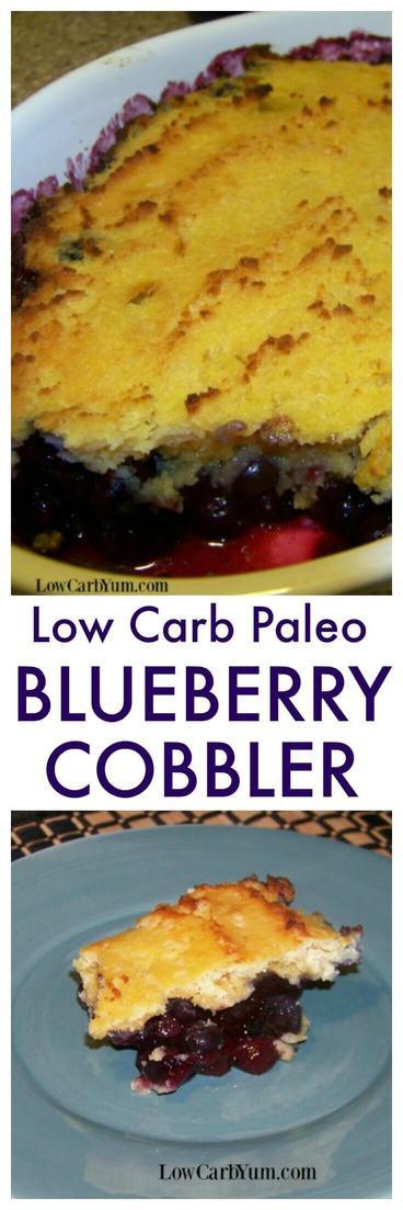 Paleo Blueberry Cobbler  paleo blueberry cobbler