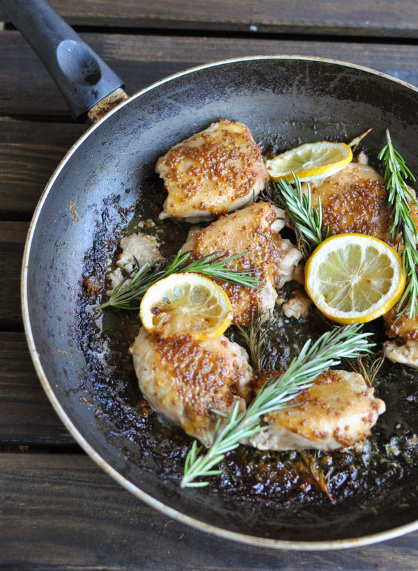 Paleo Chicken Thighs  Lemon Rosemary Chicken Thighs Primal Palate