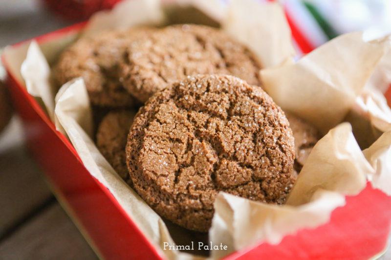 Paleo Christmas Cookies  Gingersnap Cookies Primal Palate