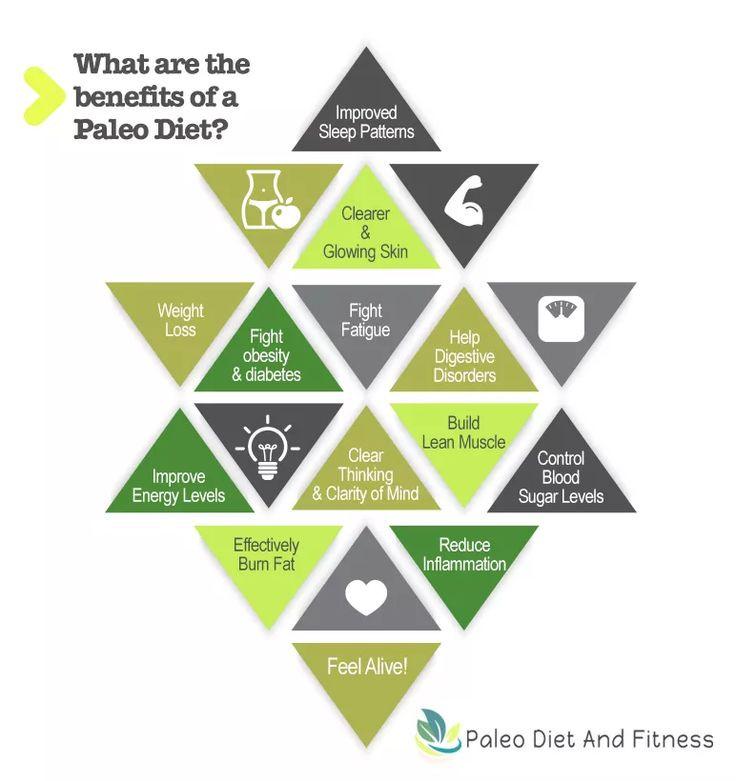Paleo Diet Benefits  Infographics benefits of the Paleo Diet