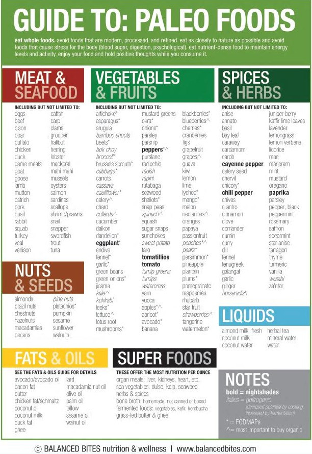 Paleo Diet Food List  Guide to Paleo Foods Cheat Sheet Best Infographics