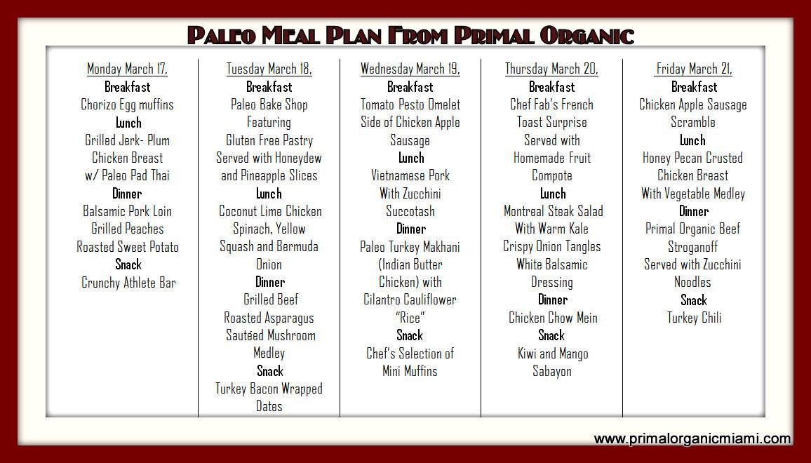 Paleo Diet Meal Plans  The Origin Paleo Diet plan