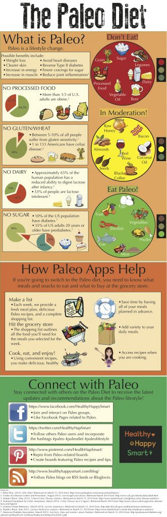 Paleo Diet Rules  Paleo Diet Infographic Guide to Paleo Healthy Happy Smart