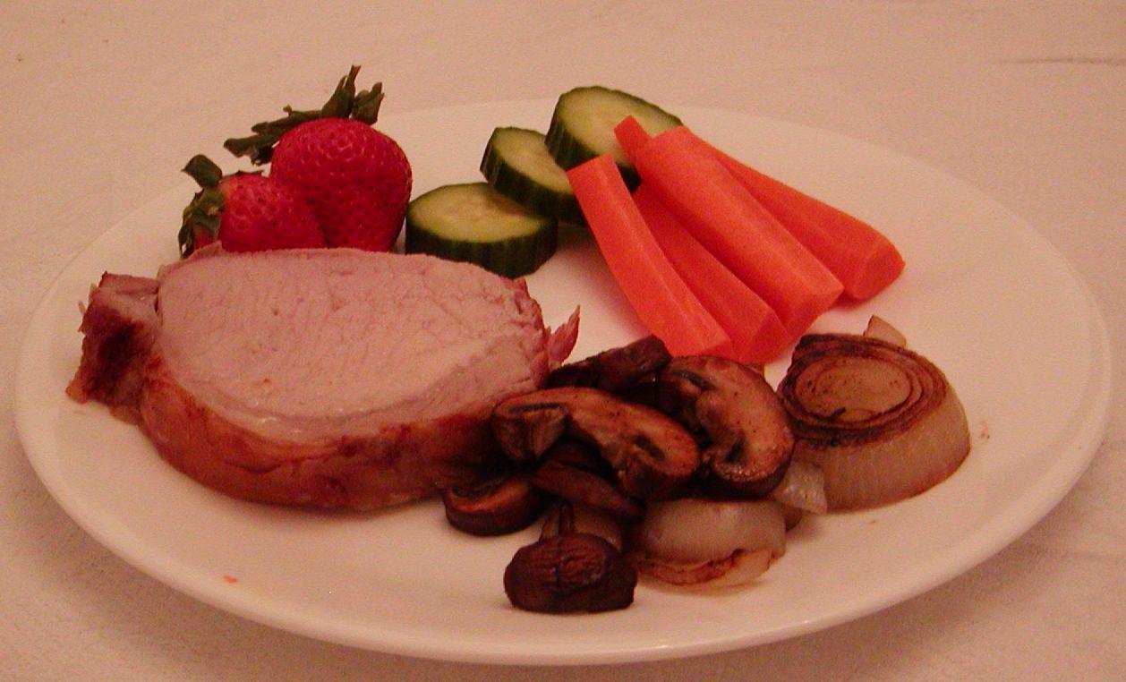 Paleo Diet Wiki  File Pork roast dinner Wikimedia mons