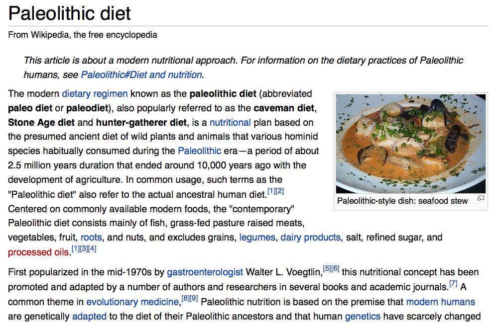 Paleo Diet Wiki  Paleolithic Diet – Hunter Gather Diet
