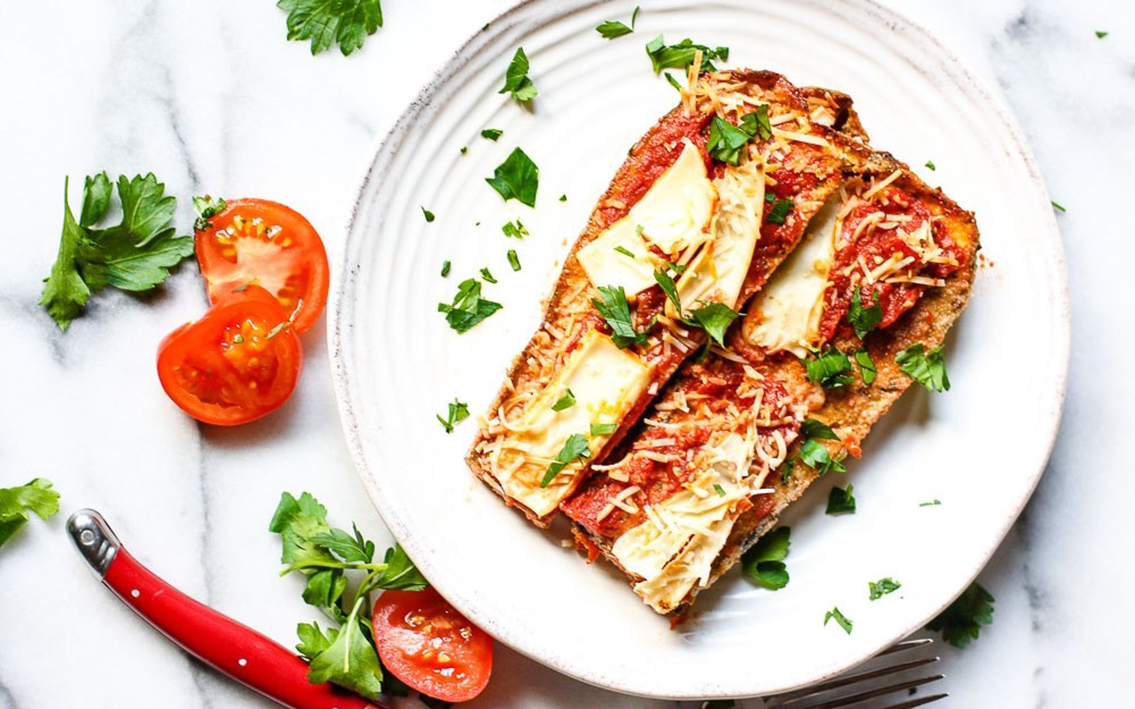 Paleo Eggplant Parmesan  Paleo Eggplant Parmesan [Vegan Gluten Free] e Green