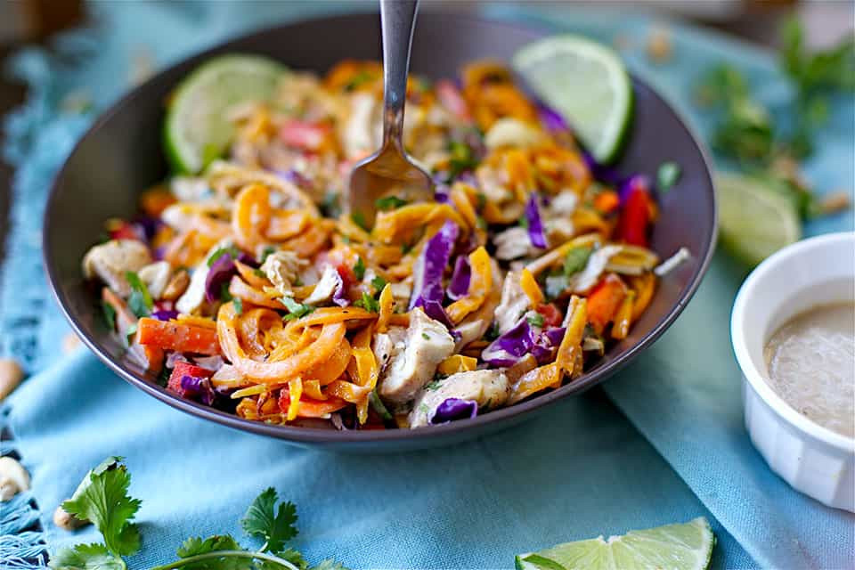 Paleo Pad Thai  Paleo Chicken Pad Thai Wholesomelicious