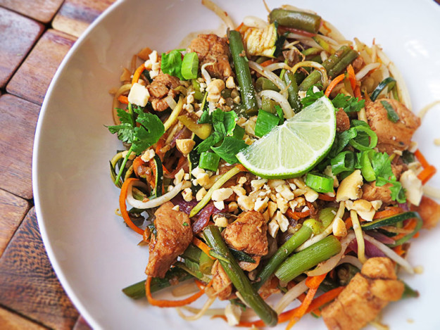 Paleo Pad Thai  Paleo Pad Thai with Ve able Noodles