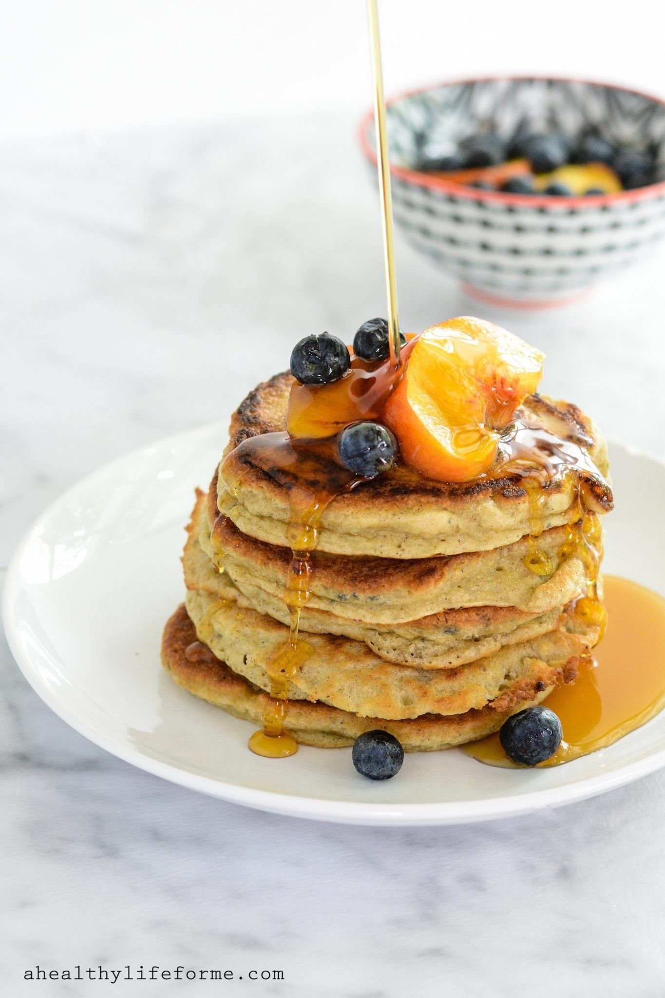 Paleo Pancakes Recipe  Paleo Peach Pancakes A Healthy Life For Me